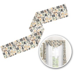 Musical Instruments Window Sheer Scarf Valance (Personalized)