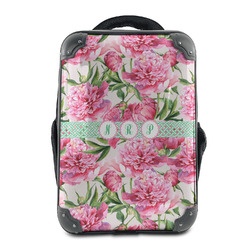 Watercolor Peonies Hard Shell Backpack (Personalized)