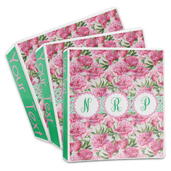 Watercolor Peonies 3-Ring Binder (Personalized)