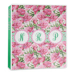 Watercolor Peonies 3-Ring Binder - 1 inch (Personalized)