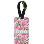 Watercolor Peonies Aluminum Luggage Tag (Personalized)