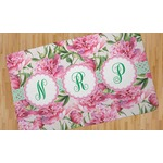 Watercolor Peonies Area Rug (Personalized)