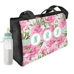 Watercolor Peonies Diaper Bag (Personalized)