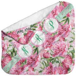 Watercolor Peonies Baby Hooded Towel (Personalized)
