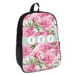 Watercolor Peonies Kids Backpack (Personalized)