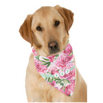 Watercolor Peonies Dog Bandana Scarf w/ Multiple Names