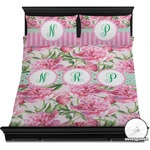 Watercolor Peonies Duvet Cover Set (Personalized)