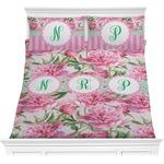 Watercolor Peonies Comforter Set (Personalized)