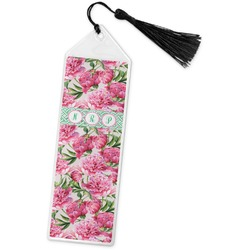 Watercolor Peonies Book Mark w/Tassel (Personalized)