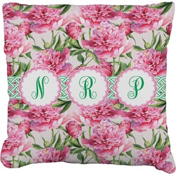 Watercolor Peonies Burlap Pillow Case (Personalized)