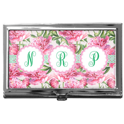Watercolor Peonies Business Card Case