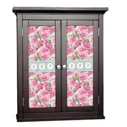 Watercolor Peonies Cabinet Decal - Custom Size (Personalized)