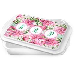 Watercolor Peonies Cake Pan (Personalized)