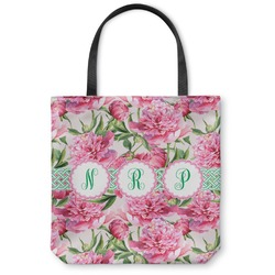 Watercolor Peonies Canvas Tote Bag (Personalized)