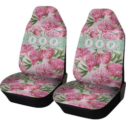 Watercolor Peonies Car Seat Covers (Set of Two) (Personalized)