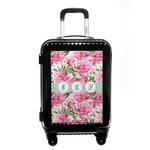 Watercolor Peonies Carry On Hard Shell Suitcase (Personalized)