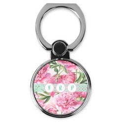 Watercolor Peonies Cell Phone Ring Stand & Holder (Personalized)