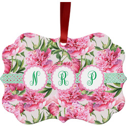 Watercolor Peonies Ornament (Personalized)