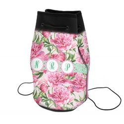 Watercolor Peonies Neoprene Drawstring Backpack (Personalized)