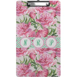 Watercolor Peonies Clipboard (Legal Size) (Personalized)