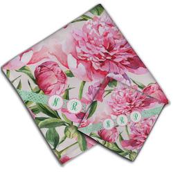 Watercolor Peonies Cloth Napkin w/ Multiple Names