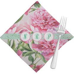 Watercolor Peonies Cloth Napkins (Set of 4) (Personalized)
