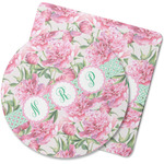 Watercolor Peonies Rubber Backed Coaster (Personalized)