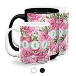 Watercolor Peonies Coffee Mugs (Personalized)
