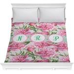 Watercolor Peonies Comforter (Personalized)