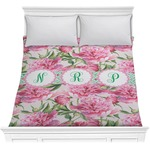 Watercolor Peonies Comforter (Personalized)
