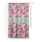 Watercolor Peonies Curtain (Personalized)