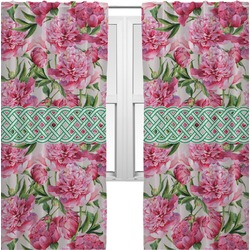 Watercolor Peonies Curtains (2 Panels Per Set) (Personalized)