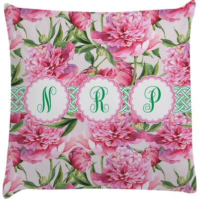 Watercolor Peonies Decorative Pillow Case (Personalized)