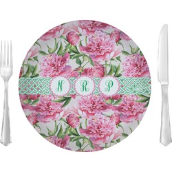 Watercolor Peonies Dinner Plate (Personalized)