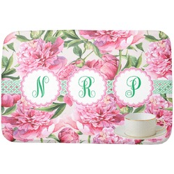 Watercolor Peonies Dish Drying Mat (Personalized)