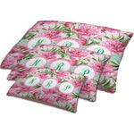 Watercolor Peonies Dog Bed w/ Multiple Names