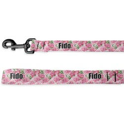 Watercolor Peonies Deluxe Dog Leash (Personalized)