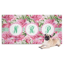 Watercolor Peonies Pet Towel (Personalized)