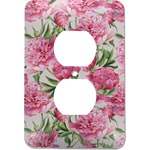 Watercolor Peonies Electric Outlet Plate (Personalized)