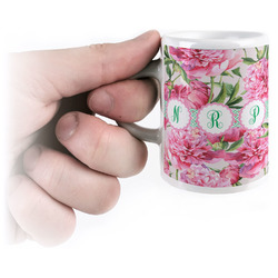 Watercolor Peonies Espresso Cups (Personalized)