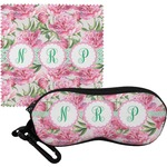 Watercolor Peonies Eyeglass Case & Cloth (Personalized)