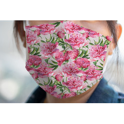 Watercolor Peonies Face Mask Cover (Personalized)