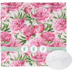Watercolor Peonies Wash Cloth (Personalized)
