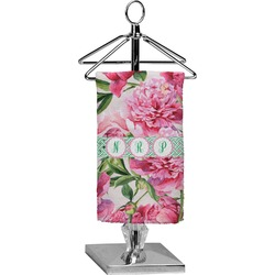 Watercolor Peonies Finger Tip Towel - Full Print (Personalized)