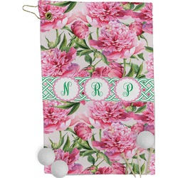 Watercolor Peonies Golf Towel - Full Print (Personalized)