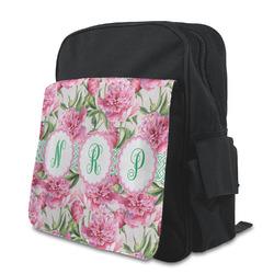 Watercolor Peonies Preschool Backpack (Personalized)