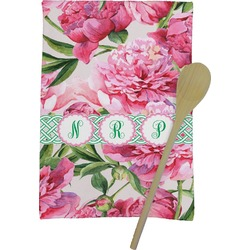 Watercolor Peonies Kitchen Towel - Full Print (Personalized)