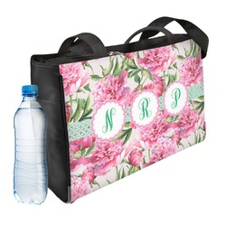 Watercolor Peonies Ladies Workout Bag (Personalized)