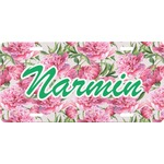 Watercolor Peonies Front License Plate (Personalized)