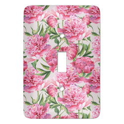 Watercolor Peonies Light Switch Covers - Multiple Toggle Options Available (Personalized)